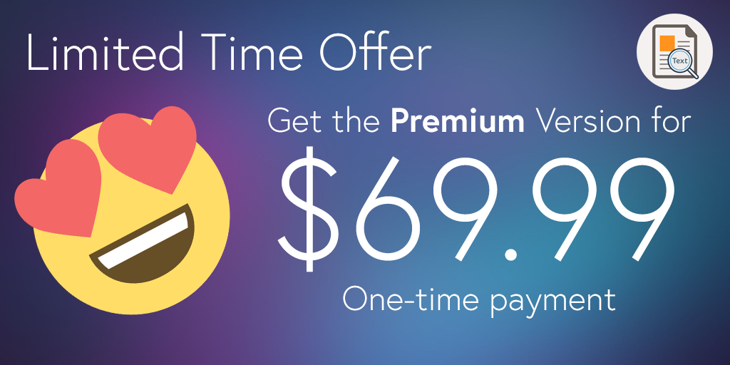 image to text limited time offer